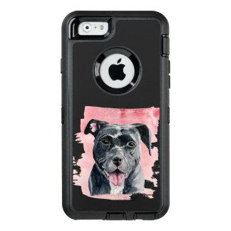 Black American Bulldog Watercolor Painting OtterBox iPhone 6/6s Case
