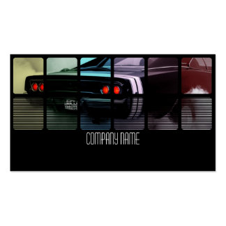 Black American Muscle Car in  Different Colors Pack Of Standard Business Cards