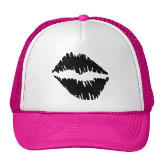 Black an Gold Bride squad kiss Goth Cap