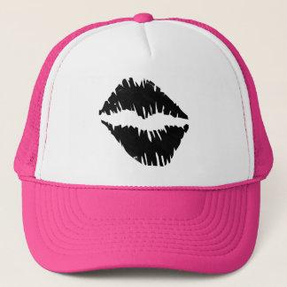 Black an Gold Bride squad kiss Goth Trucker Hat