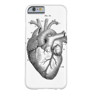 Black Anatomical Heart Barely There iPhone 6 Case