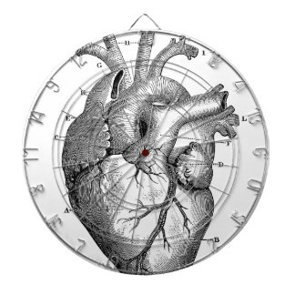 Black Anatomical Heart Dartboard With Darts