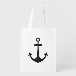 Black Anchor Reusable Grocery Bag