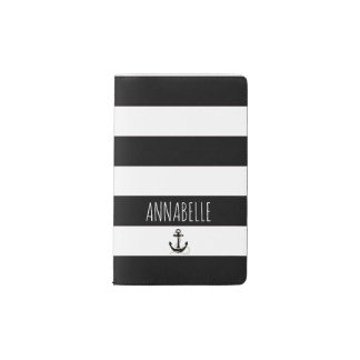 Black Anchors Away Pocket Moleskine Notebook