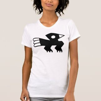 Black Ancient Bird Symbol Graphic T-Shirt