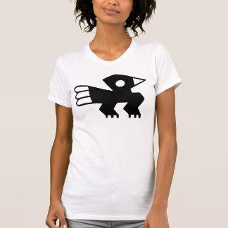 Black Ancient Bird Symbol Graphic Tee Shirts