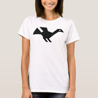 Black Ancient Bird Symbol T-Shirt