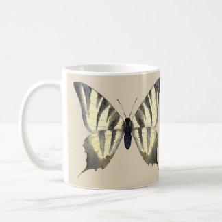 Black and Beige Butterfly Mug