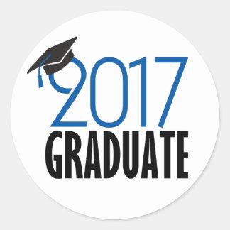 Black and Blue 2017 Graduate Sticker