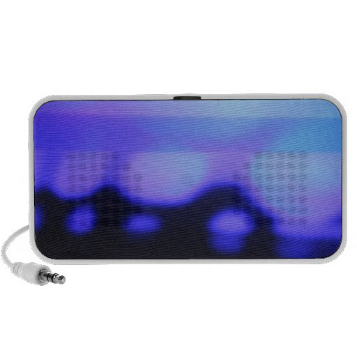 black and blue abstract speaker