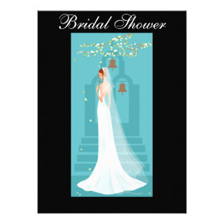 Black and Blue Bridal Shower Invitation