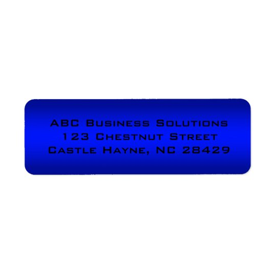 Black and Blue Business Return Address Sticker