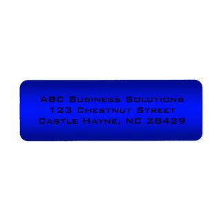 Black and Blue Business Return Address Sticker Return Address Label