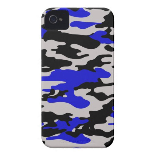 Black and Blue Camo Blackberry Bold Cover
