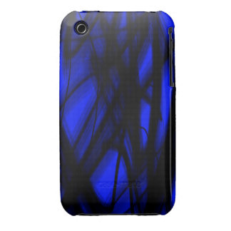 Black and Blue Case-Mate iPhone 3 Case