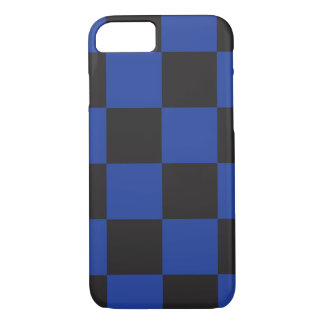 Black and Blue Checkers iPhone 7 Case