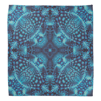 Black and Blue, colorful kaleidoscope bandana