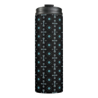 Black and blue delight thermal tumbler