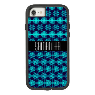 Black and Blue Geometric Pattern Case-Mate Tough Extreme iPhone 8/7 Case