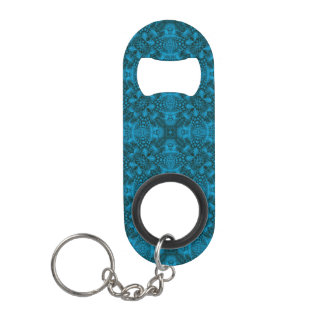 Black And Blue Kaleidoscope    Bottle Openers