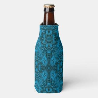 Black And Blue Kaleidoscope Colorful Bottle Cooler