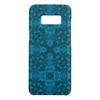 Black And Blue Kaleidoscope   Phone Cases