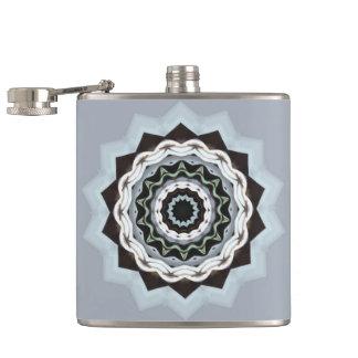 Black and Blue Mandala Hip Flask
