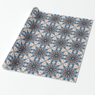 Black And Blue Mandala Wrapping Paper