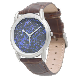 Black and Blue Marble, Wrist Watch