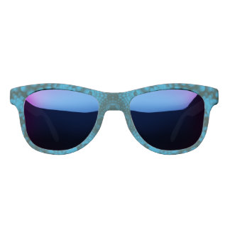 Black And Blue Midnight Mirror Sunglasses