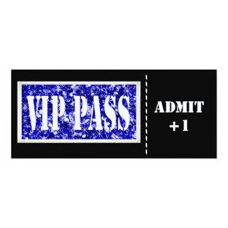 Black and Blue party VIP invitation