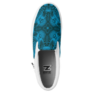 Black And Blue  Slip On Shoes, US Men & Women Printed Shoes