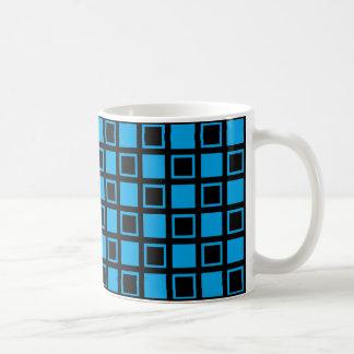 Black and Blue Squares Coffee Mug