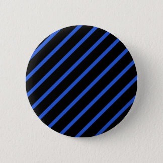 Black and blue stripes 6 cm round badge