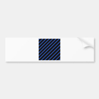Black and blue stripes bumper sticker