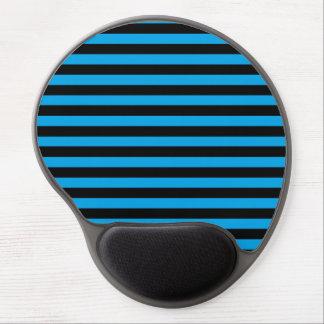 Black and Blue Stripes Gel Mousepad