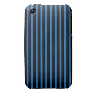 Black and Blue Stripes iPhone 3 Case