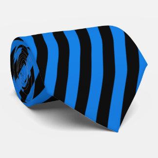 Black and Blue Stripes Tie