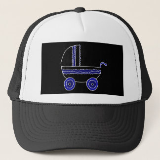 Black and Blue Stroller. Trucker Hat