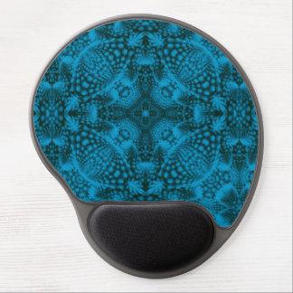 Black And Blue Vintage Kaleidoscope   Gel Mousepad