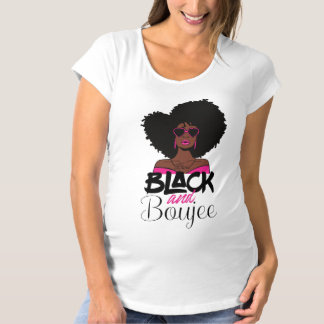 Black and Boujee African American Woman Maternity T-Shirt