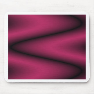 Black and Bright Cherry Wave Mousepad