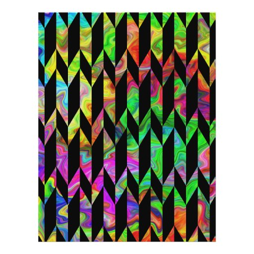Black and Bright Colors Abstract Graphic Pattern. Flyer Design