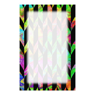 Black and Bright Colors Abstract Graphic Pattern. Stationery Design