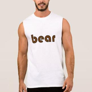 "Black and Brown ""bear"" Sleeveless T Sleeveless Shirt"