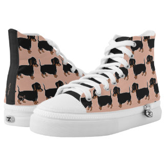 Black and Brown Dachshunds Print Shoes