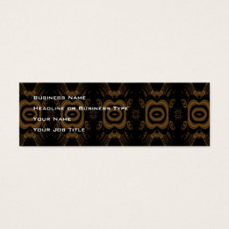 Black and Brown Floral Pattern Design. Mini Business Card