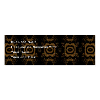 Black and Brown Floral Pattern Design. Pack Of Skinny Business Cards