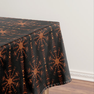 Black And Brown Geometric Star Tablecloth