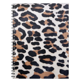 BLACK AND BROWN LEOPARD NOTEBOOK